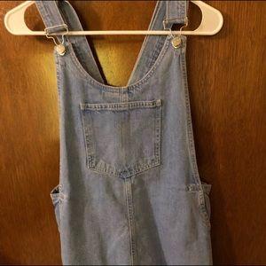 Zara overall denim dress